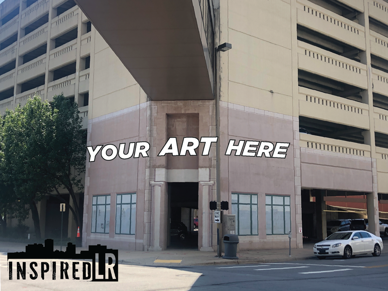 Inspired lr graphic for call to artists - Simmons Tower Parking Garage