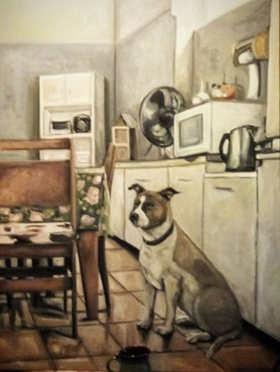 Adriana Patrucco - Dog in the Kitchen