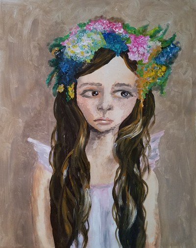 Ali Smith - Girl with Flower Crown